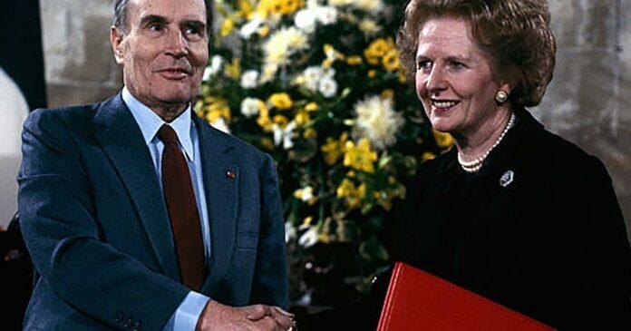 François Mitterand e Margaret Thatcher